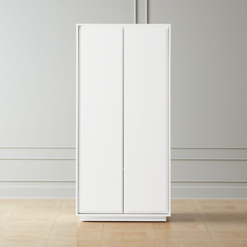 Gallery White 2 Door Wardrobe Reviews Cb2 In 2020 Modern Storage Cabinet 2 Door Wardrobe Wardrobe Cabinets