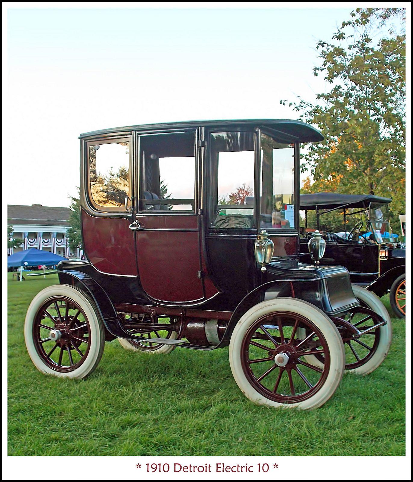 1910 Detroit Electric 10 Electric Cars Electricity Antique Cars
