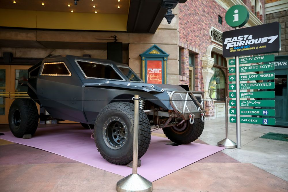 Fast Furious 7 Cars Make Their Debut At Universal Studios Singapore Muscle Cars Fast And Furious Muscle Truck