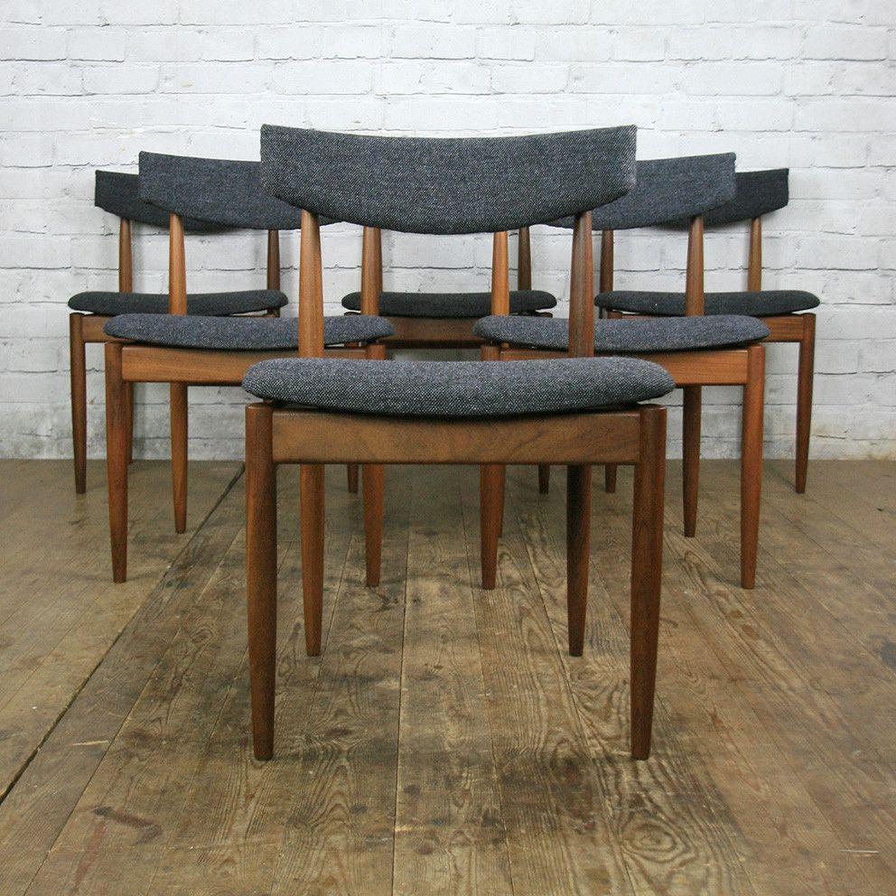 6 Vintage G Plan Dining Chairs By Kofod Larsen