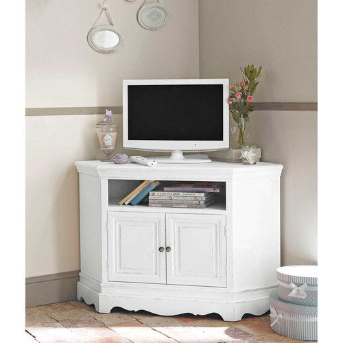 Meuble Tv DAngle Blanc  Deco Intrieure    Meuble Tv