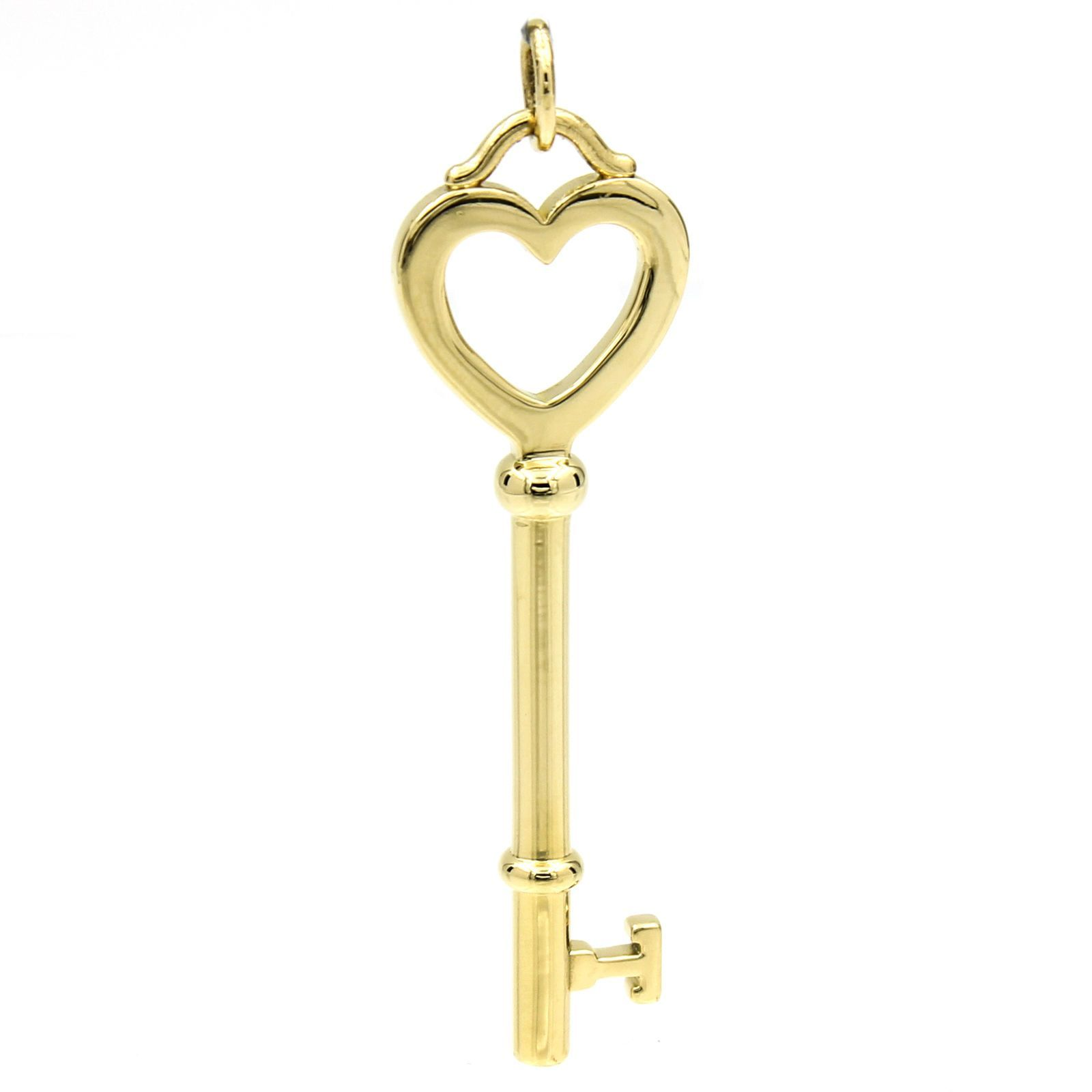 14a2cda24 Tiffany & Co. Large Heart Key Pendant in 18k Yellow Gold 2 ...
