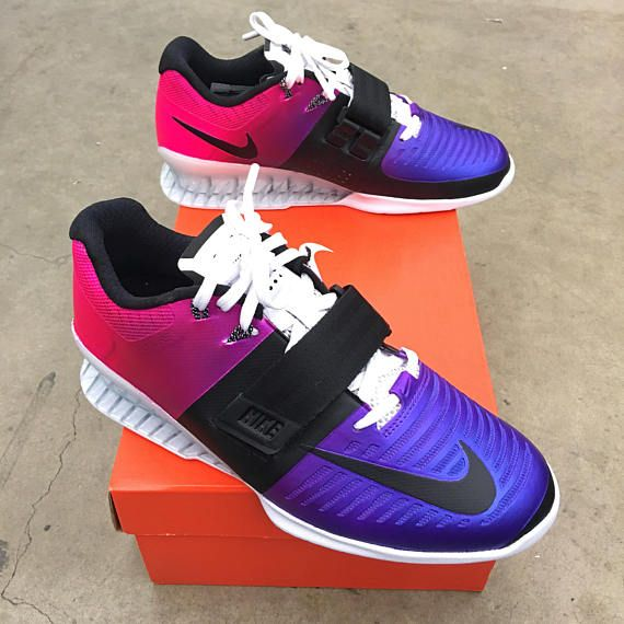 huge selection of eca64 4c184 Custom Painted Nike Romaleos 3 Weightlifting Shoes