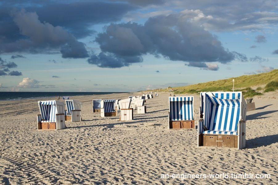Strandkorb am strand  Sylt #windy #cloudy #clouds #cloud #island #beachchair #chair ...