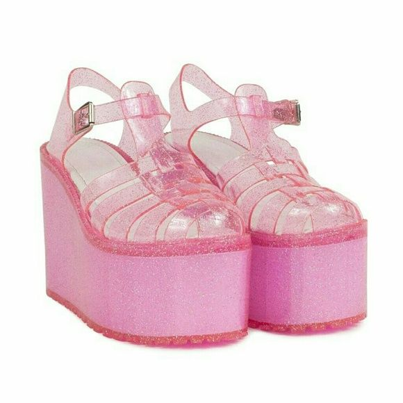 9e418880724 UNIF Pink Glitter Hella Jellies Size 5 Make everyone peanut butter and  jealous!  )