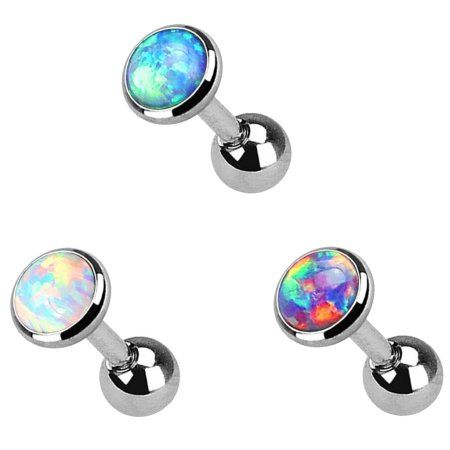 Free Shipping Buy Thzy 3 Lot Colorful Flat Opal Tragus Cartilage