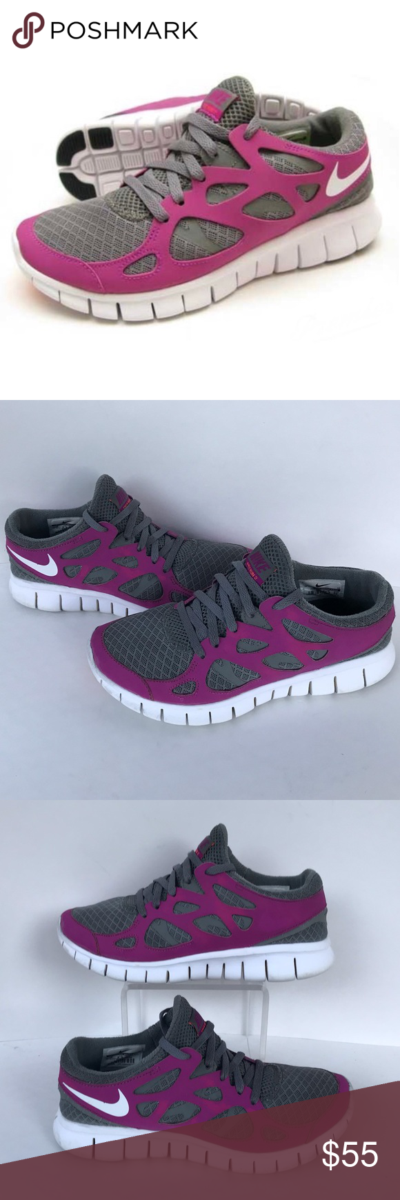 buy popular 7e09f 4130b Nike Free Run 2 Athletic Running Shoes Size 6 Great Used ...