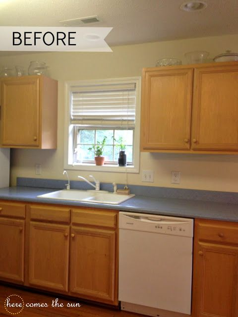 How To Update Cabinets Using Contact Paper Rental Kitchen