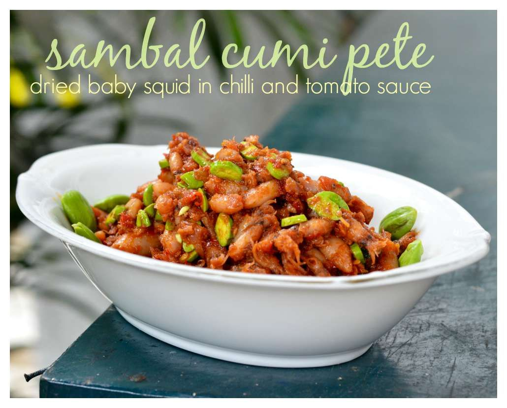 Indonesian Medan Food Sambal Cumi Pete Dried Baby Squid In Chilli And Tomato Sauce Resep Seafood Resep Masakan Makanan