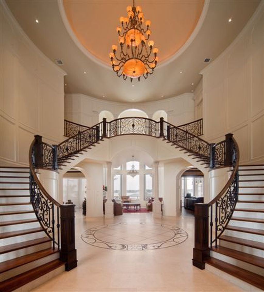 Best 37 Amazing Double Staircase Design Ideas With Luxury Look 400 x 300