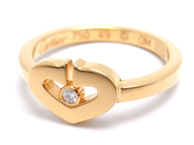 purchase cheap 9a0d5 c9135 大黒屋|Cartier カルティエ/C ハート 1P ダイヤモンド リング ...