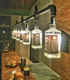 Whiskey Bottle Light Fixture For Kitchen Chandelier Dun4me