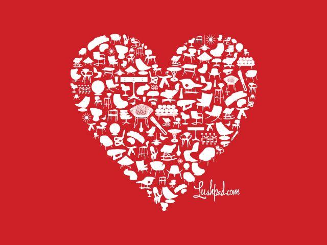 Happy #MidCenturyModern #ValentinesDay ! Great holiday desktop ...