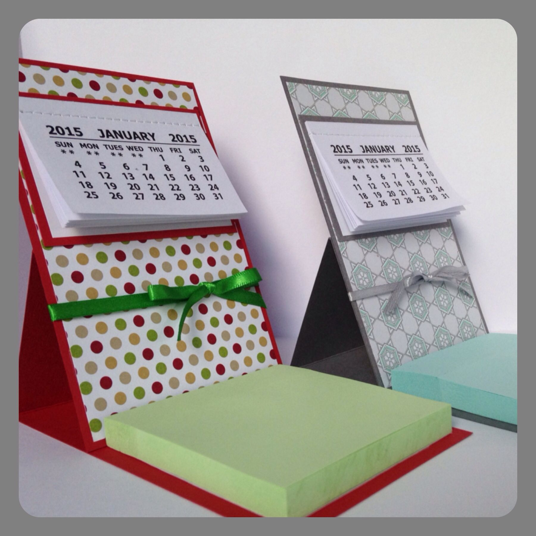 Easel calendar/post it note holder.