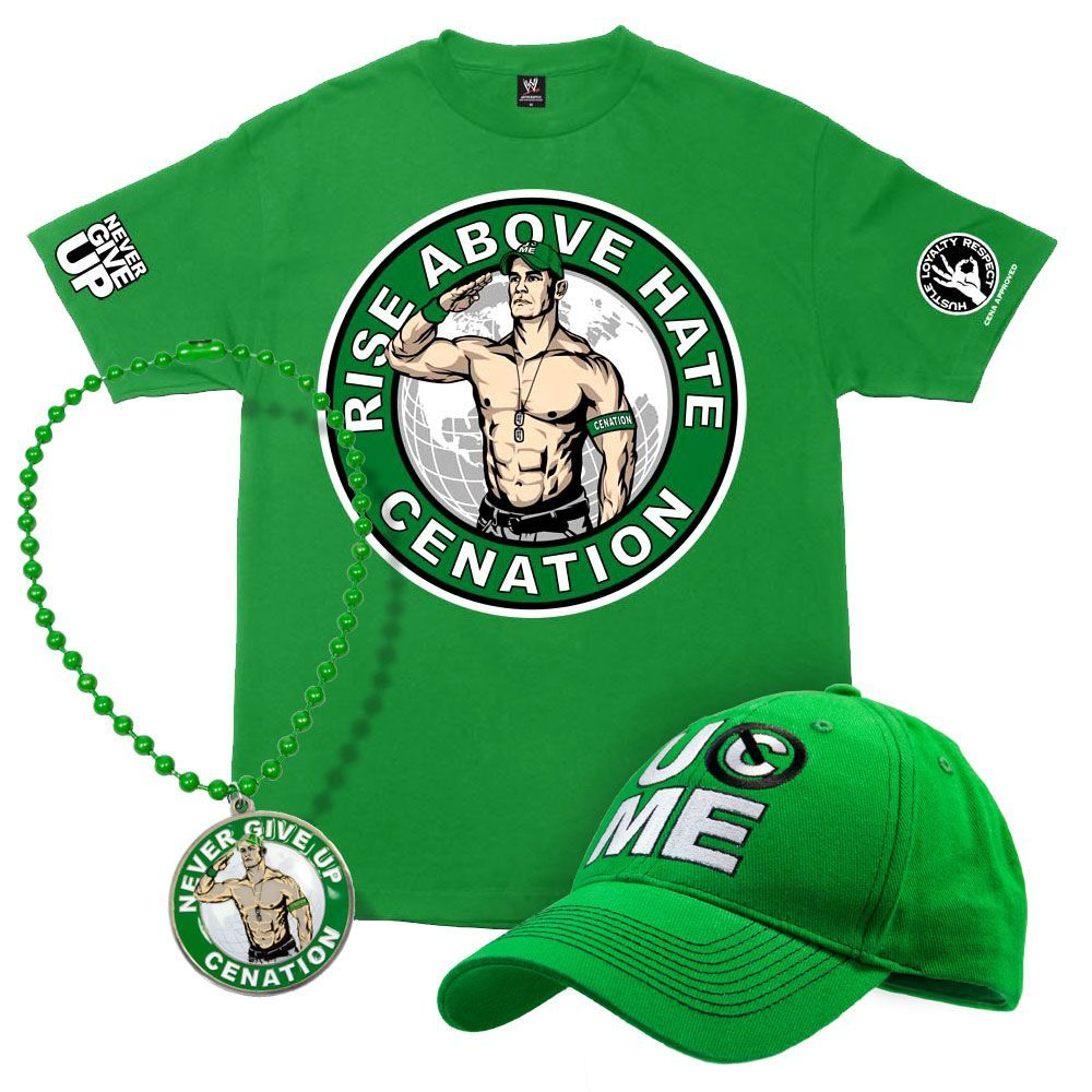 John Cena Salute to Cenation Youth T-Shirt Package - Gotto wait ...