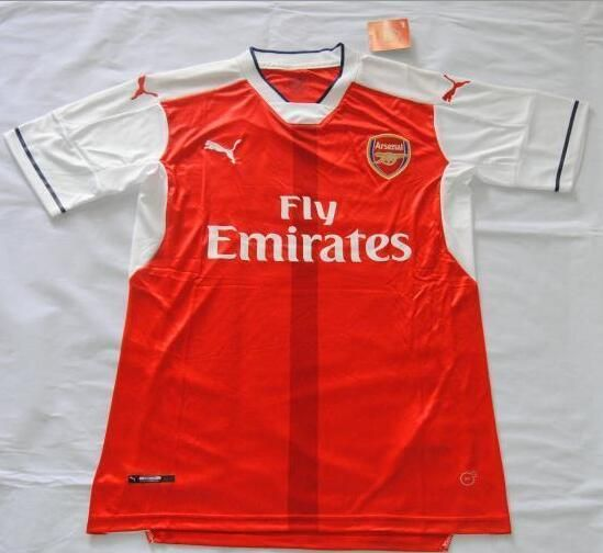 660e985d1 2016-17 Arsenal Home Red Thaiand Short Sleeves Soccer Jersey ...