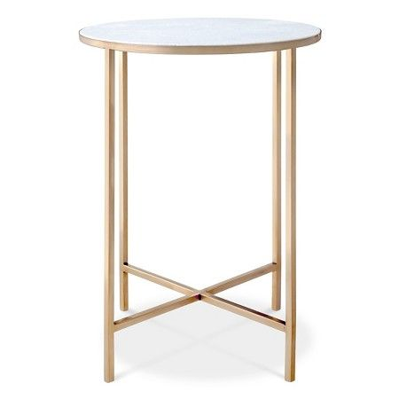 Marlton End Table Gold Threshold Target Gold and Living rooms