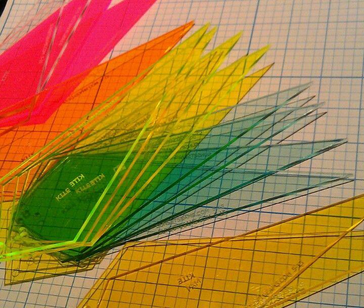 Kite Acrylic Templates Various Colours 4 15 Acrylic
