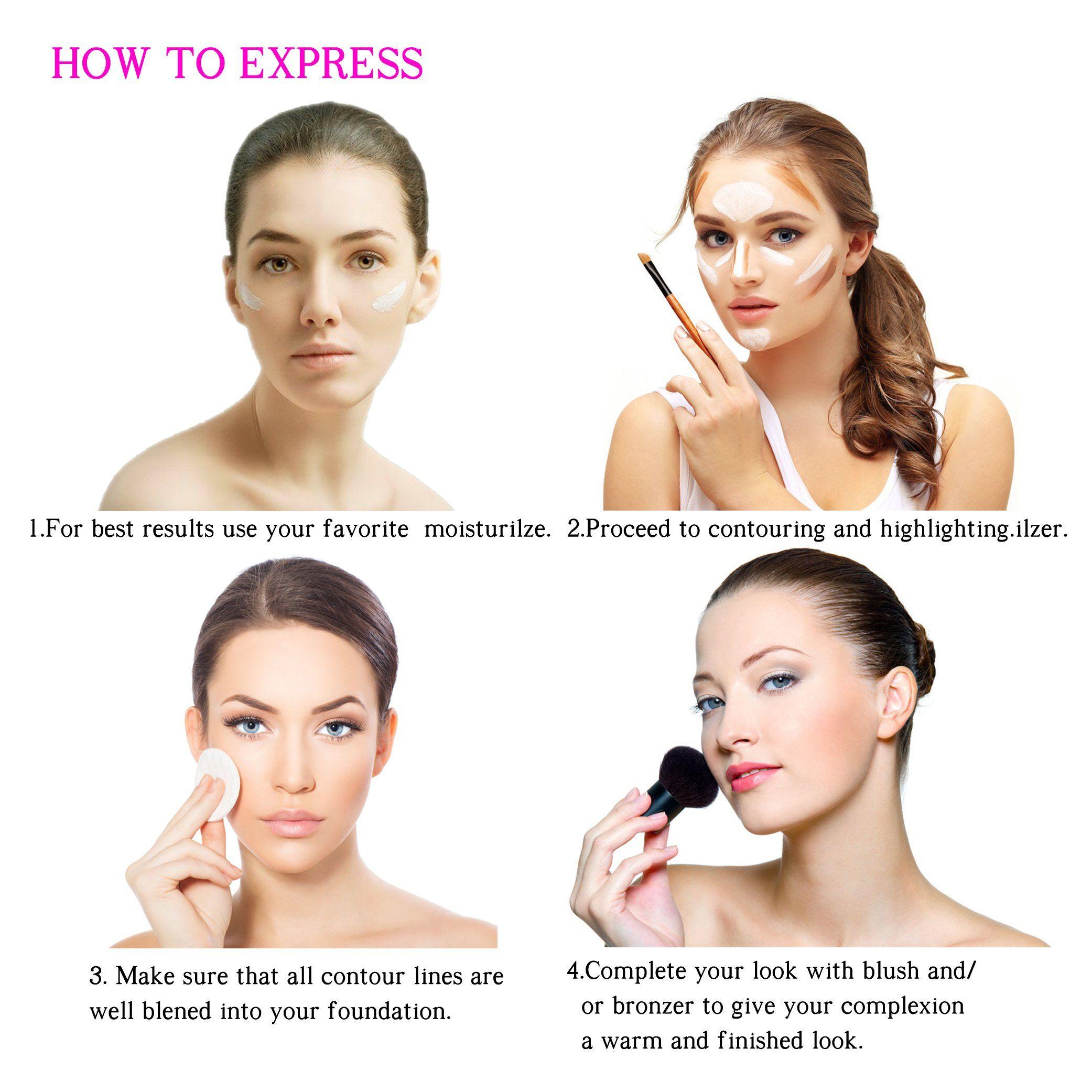 Youngfocus Cream Contour Makeuppalette Kit 8 Colors Cosmetics