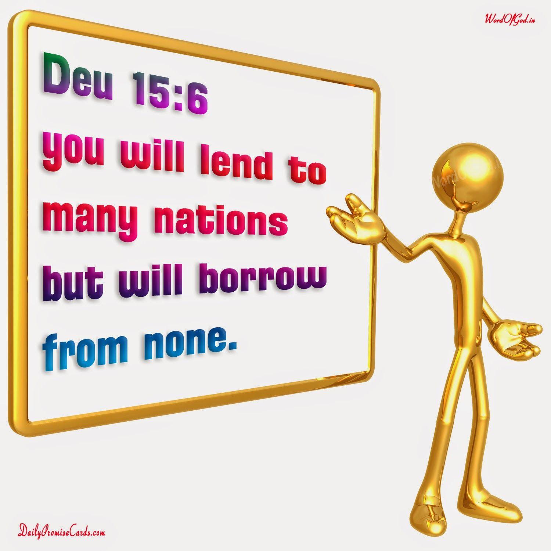 English Promise Card Deuteronomy 15 6