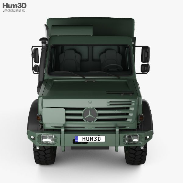3D model of Mercedes-Benz Unimog U5000 Military Truck 2002 ...