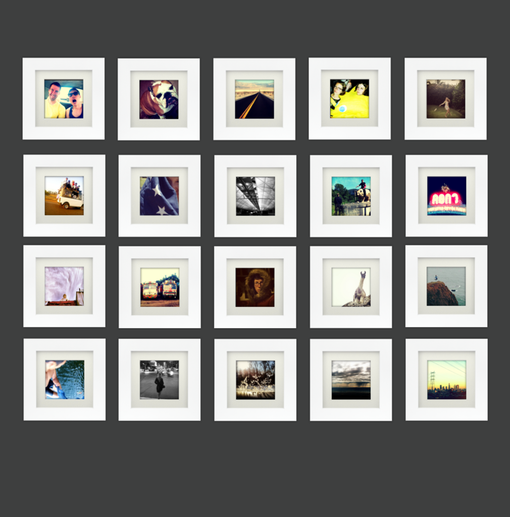 20-Pack, White, 6x6 Photo Frame (4x4 Matted) | 4x4, Gallery wall and ...