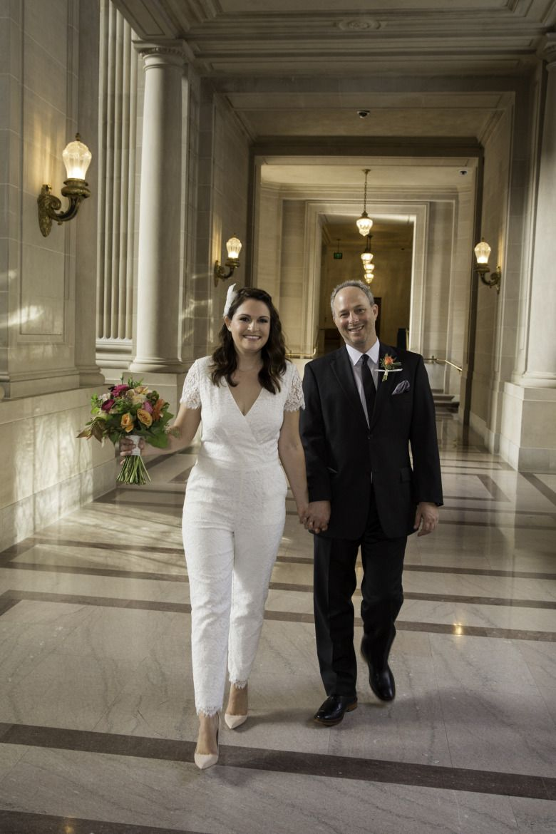 Married In A Wedding Jumpsuit At San Francisco City Hall