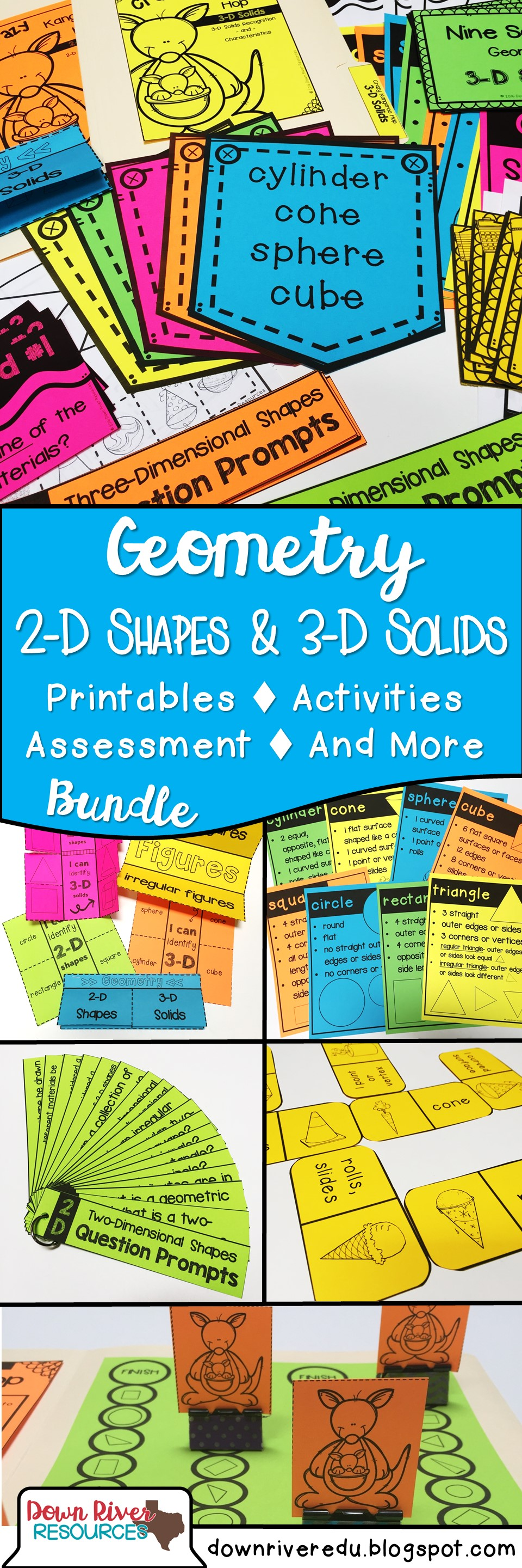 Kindergarten math students will practice geometry through printables ...