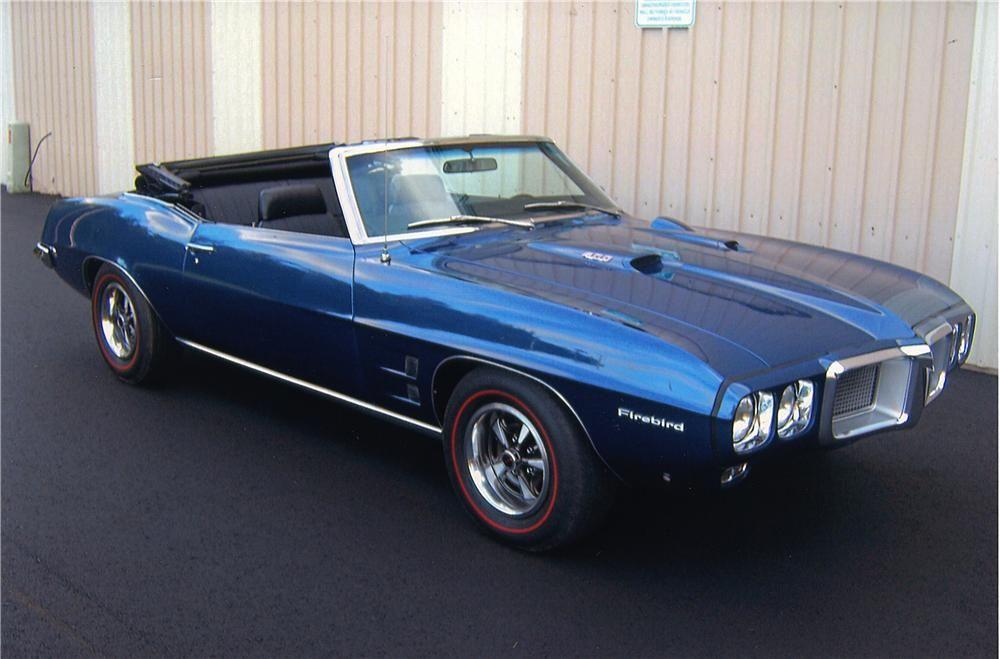 1969 Pontiac Firebird Convertible Front 3 4 161331