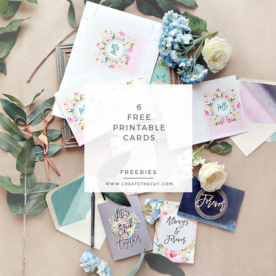 6 free gorgeous printable cards  free printable greeting