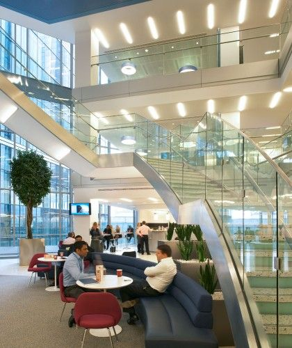 Atrium Design And Decoration Of Nulty Kpmg Headquarters London Commercial Interior