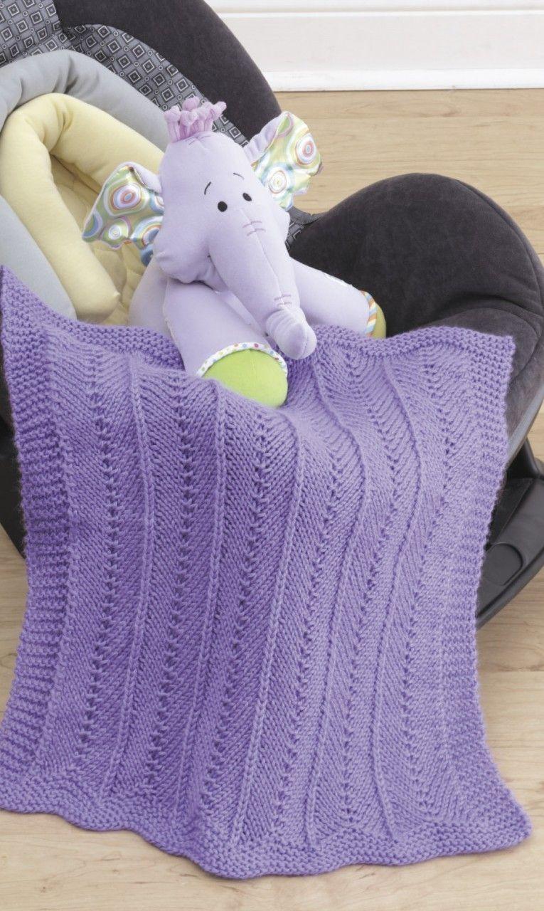 Car Seat Blankets Knit | Knitting | Baby car seat blanket ...