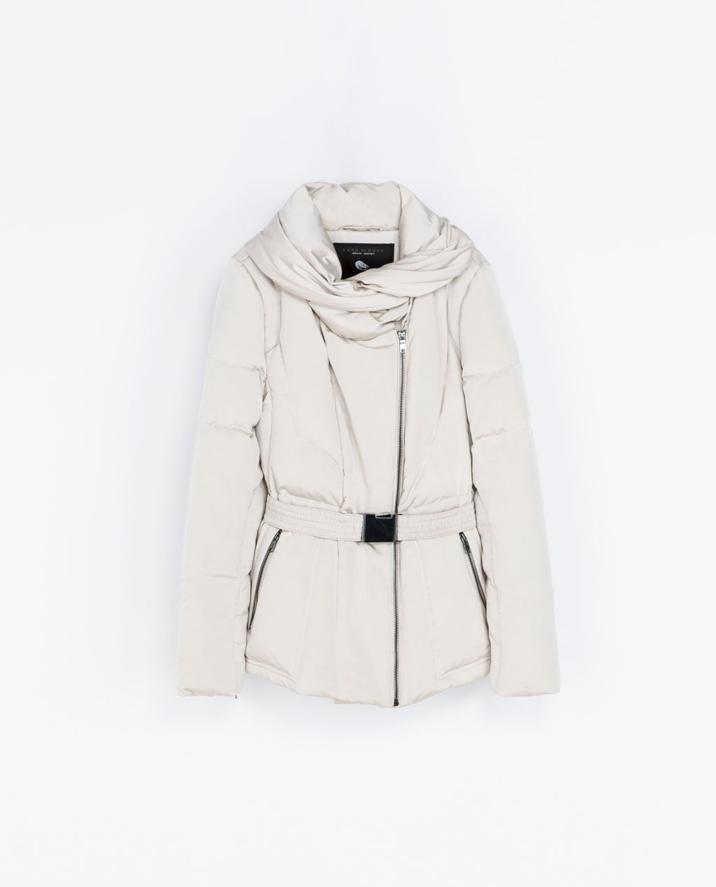 newest 39fbe d3ece ZARA - WOMAN - QUILTED ANORAK WITH WRAPAROUND COLLAR ...
