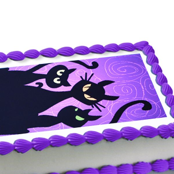 black cat party ideas halloween black cats edible image cake decoration