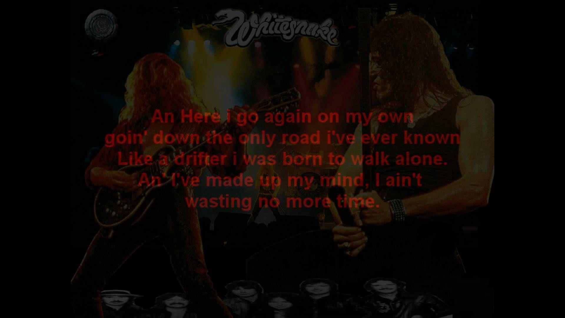 12 15 15 Whitesnake Here I Go Again With Images Here I Go