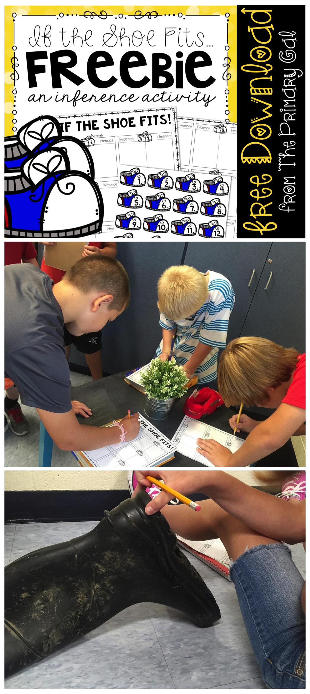 If The Shoe Fits An Inference Activity Freebie