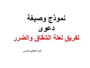 نموذج وصيغة دعوى تفريق لعلة الشقاق والضرر نادي المحامي السوري Arabic Calligraphy Calligraphy Arabic
