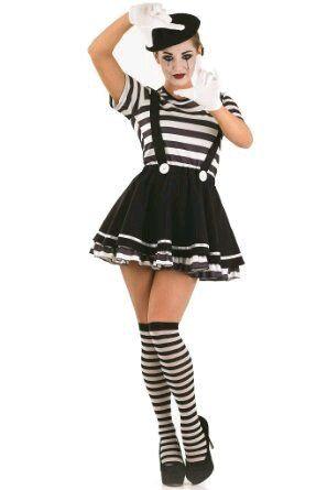 fransk mimer kostume