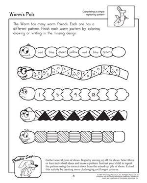 Worksheet Pattern Worksheets For Kindergarten Fun Math Worksheets Pattern Worksheet