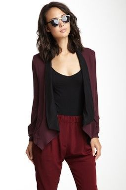 Silk Tux Shirt Jacket