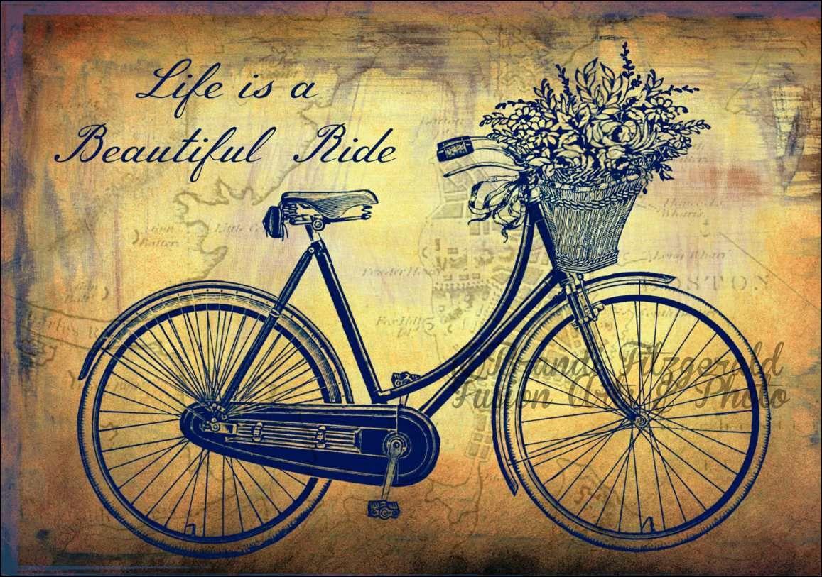 Открытки ретро велосипеды, фото надписью