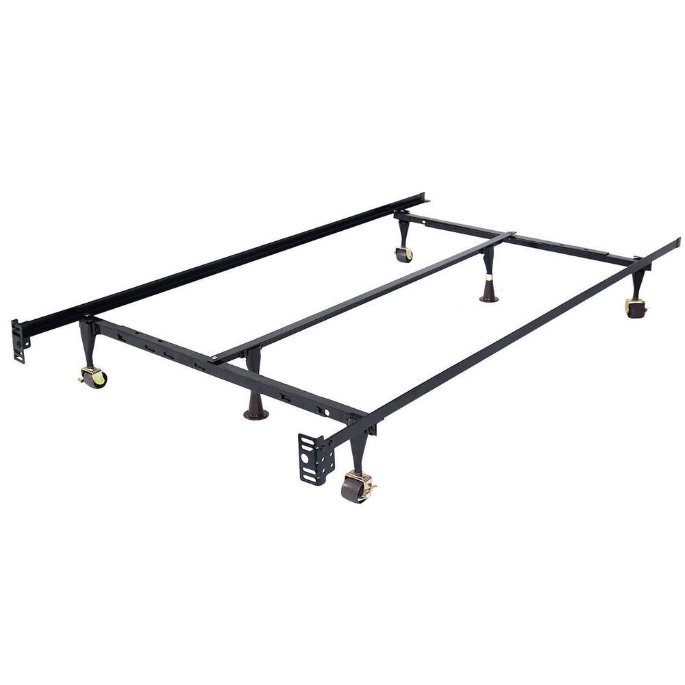 Adjustable Queen Twin Full Sizes Heavy Duty Metal Rails Bed Frame