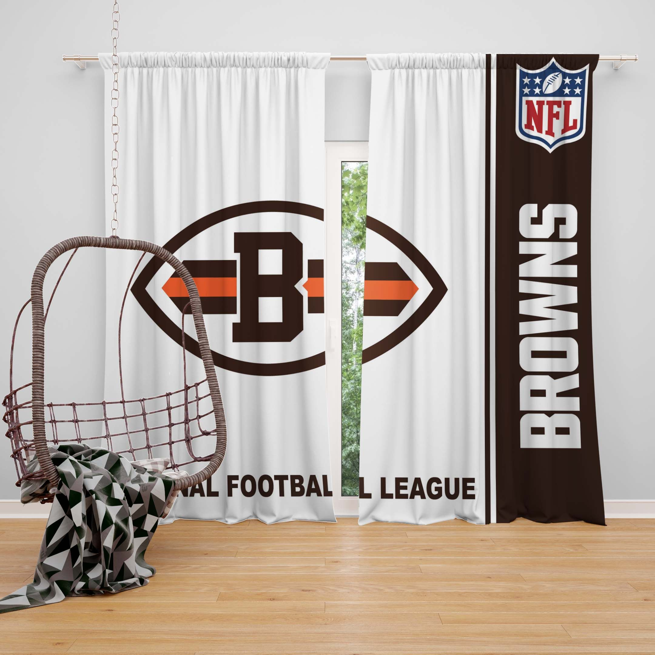 Nfl Cleveland Browns Bedroom Curtain Brown Curtains Bedroom Brown Bedroom Curtains Bedroom