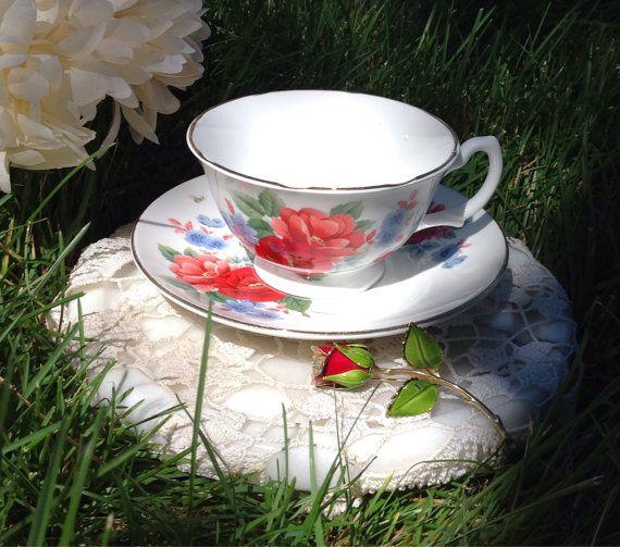 Vintage Royal Grafton Bone China Teacup Made in by BellesTeaShop, $25.50
