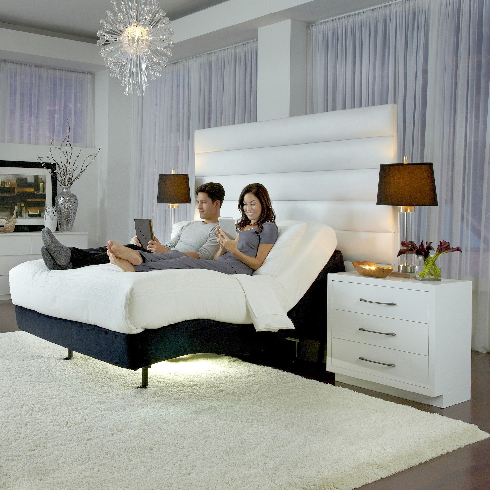 Fashion Bed Group P-232 Furniture Style Adjustable Bed Base with ...