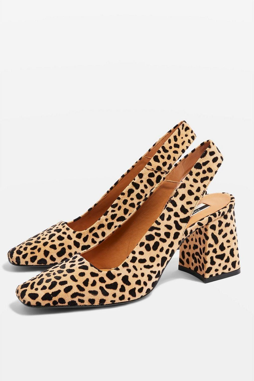 22927fd00075 GAINOR Leopard Print Slingback Shoes in 2019 | Shoes | Leopard print ...