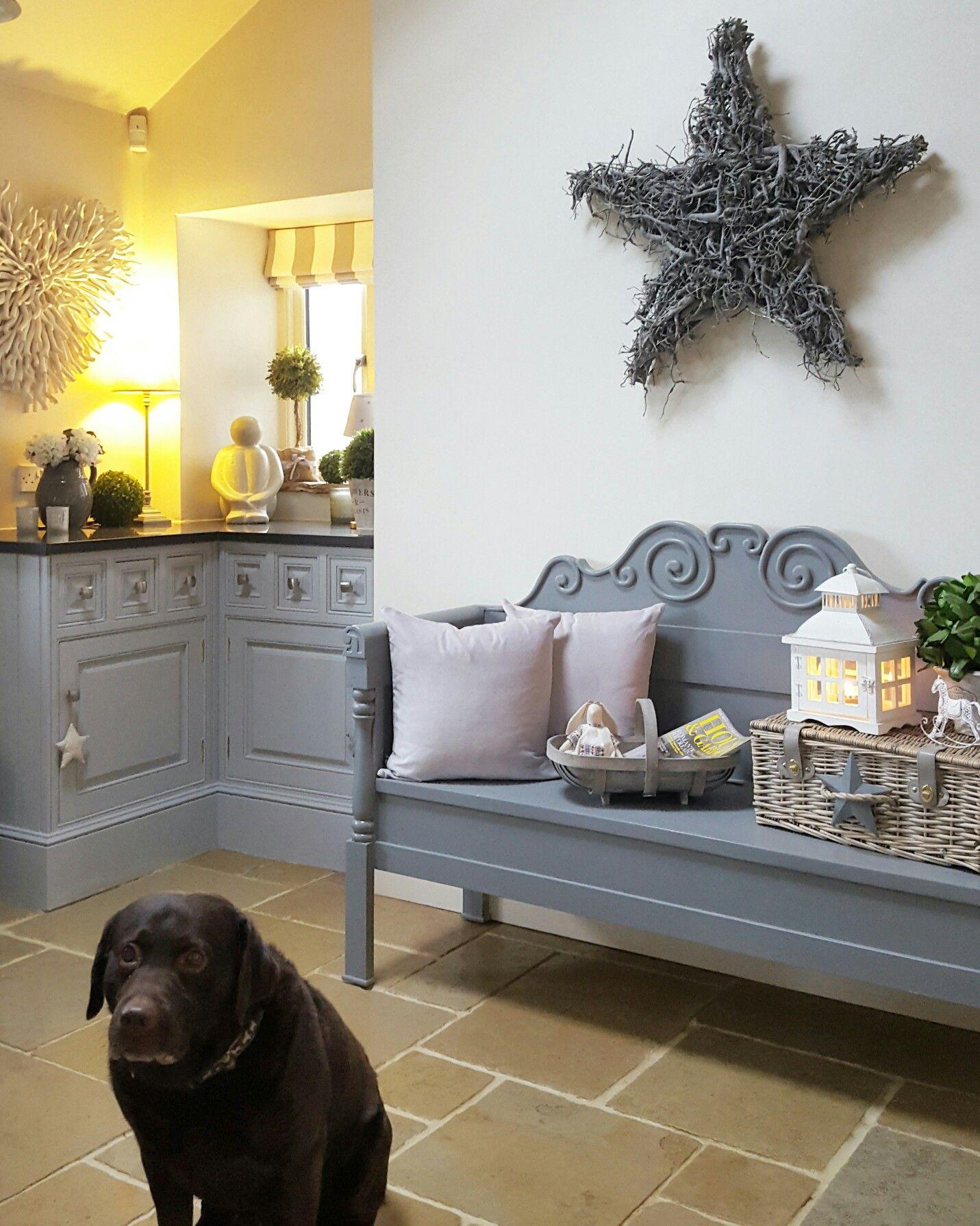 Grey kitchen cupboards....grey bench....country kitchen ...