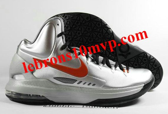 outlet store 125cf 88c9e Nike KD V Texas Metallic Silver Desert Orange Sport Grey Black 554988 002