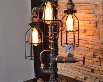 Applique lampada tubo vanità industriale steampunk pipe etsy