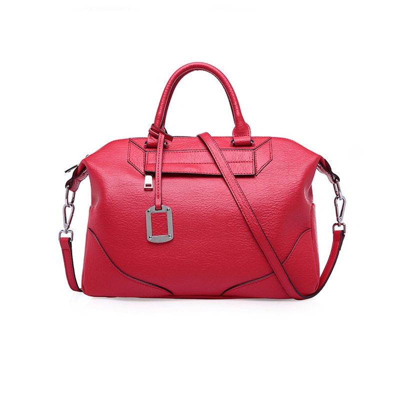 Red Genuine Leather Handbags Branded Handbag Manufacturers China